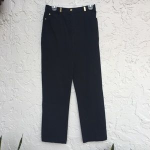 ST. SPORT By Marie Gray Size 6 Black Pants